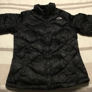 The North Face Small 550 Down Jacket Coat Black